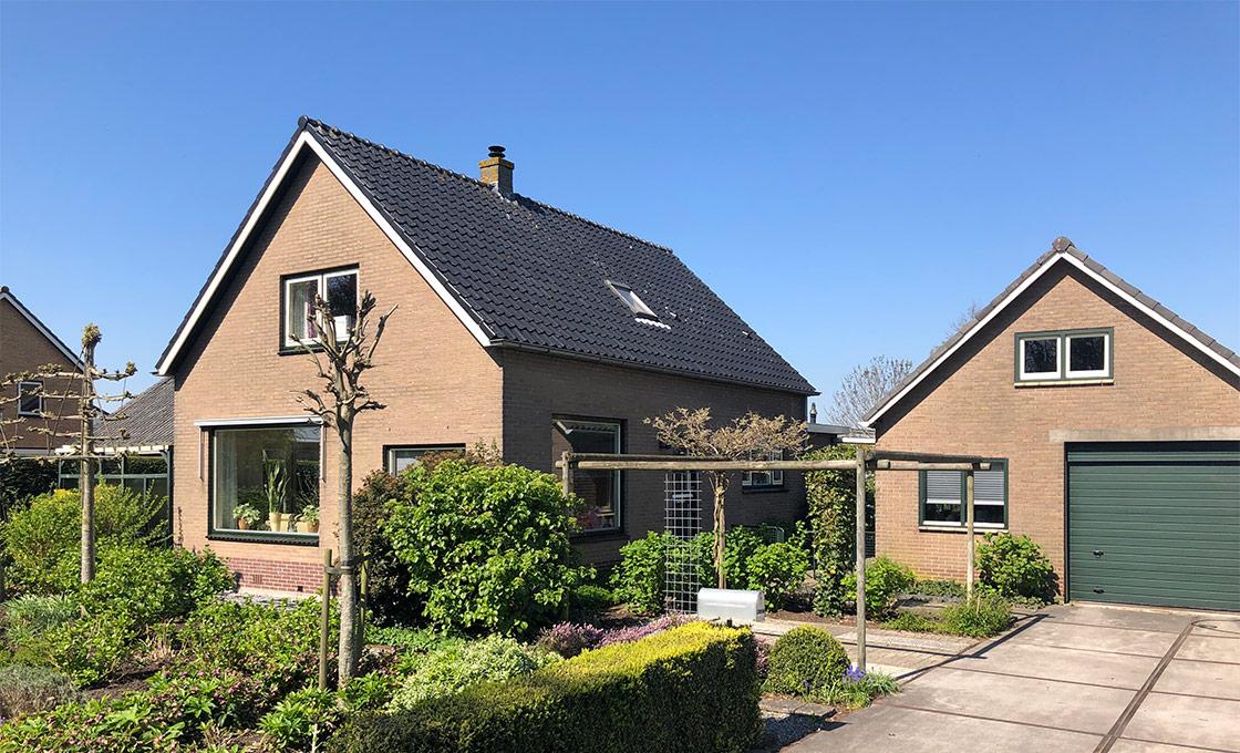 Afbeelding van het woonhuis en bijgebouw in Ter Aar